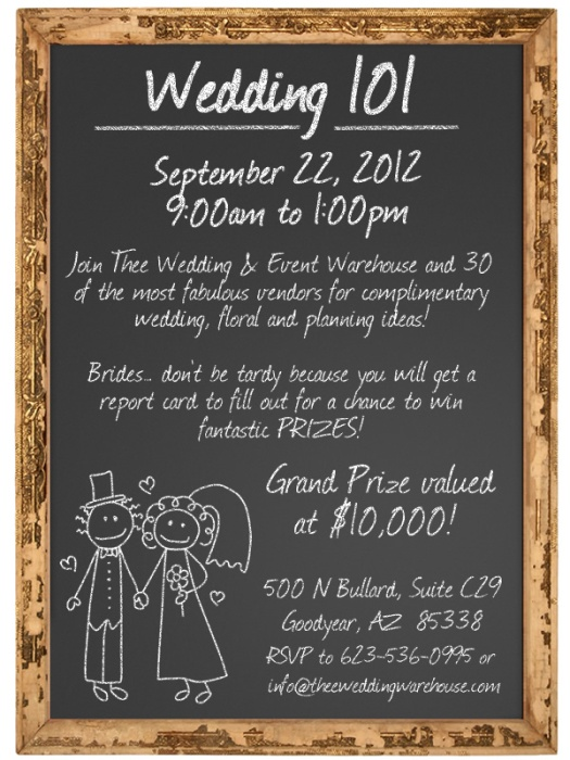 Wedding 101 By Thee Wedding Warehouse